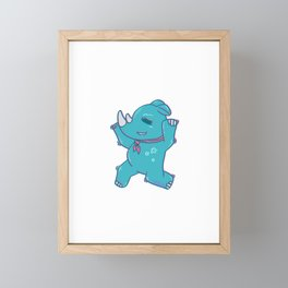 Rhino girls love dancing Framed Mini Art Print