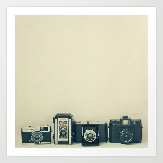 Camera Collection Art Print