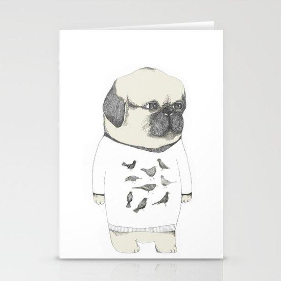 kinotto pug Stationery Cards