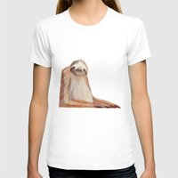 sloth T-shirts featuring sloth by Wiebke Rauers