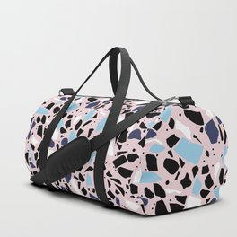 Terrazzo Spot Blues on Blush Duffle Bag