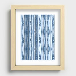 Shibori Tribal Recessed Framed Print