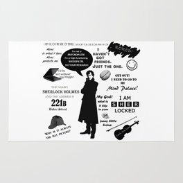 Sherlock Holmes Quotes Rug