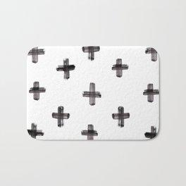 plus sign pattern Bath Mat