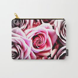 Bright Pink Roses : Pop of Color Carry-All Pouch
