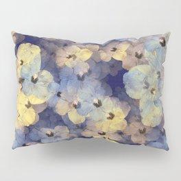 Floral Mauve-Blue-Yellow Pillow Sham