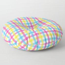 Queer Plaids - Pansexual Gingham Floor Pillow