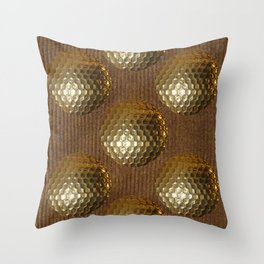 GOLDEN GOLF BALLS Throw Pillow