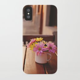 Flowers in the street iPhone Case