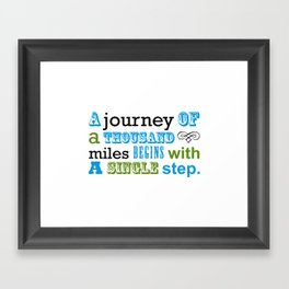 Fortune Cookie - on the first step Framed Art Print