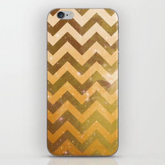 Golden Space Chevron iPhone & iPod Skin