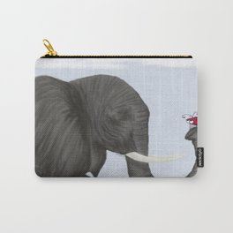 Bertha The Elephant And Her Visitor Carry-All Pouch