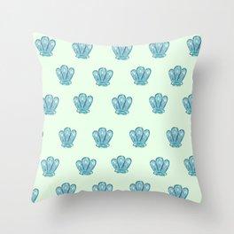 seashells green Throw Pillow