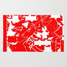 The date between red and white Rug