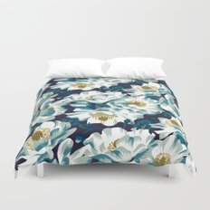 Mount Cook Lily (Night) Duvet Cover