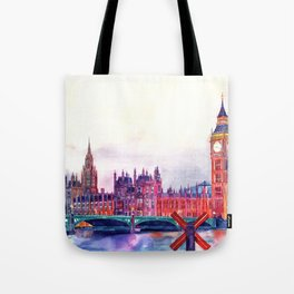 Sunset in London Tote Bag