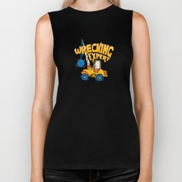 Wrecking Expert Construction Worker Gifts and Apparel Biker Tank