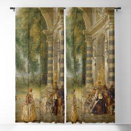 """Antoine Watteau """"The pleasures of the ball (Les Plaisirs du bal)"""" Blackout Curtain"""