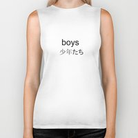 boys Biker Tanks featuring BOYS by Fashionable