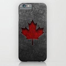 Canadian Flag Stone Texture iPhone 6s Slim Case