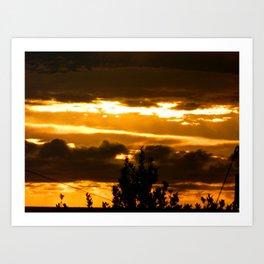 Morning Fire (Cornwall) Art Print