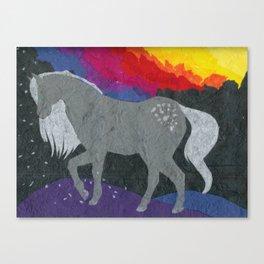 galaxy horse Canvas Print