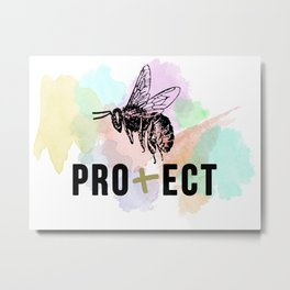 Protect Collection - Bee Design Metal Print