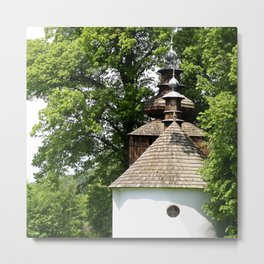 Orthodox Church in Bieliczna, Poland Metal Print