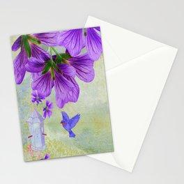 Purple Cranesbill Stationery Cards
