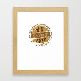 Engineer Number One Framed Art Print
