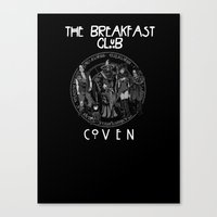 coven Canvas Prints featuring Breakfast Coven by Mannart