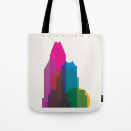 Shapes of Montreal. Accurate to scale. Tote Bag