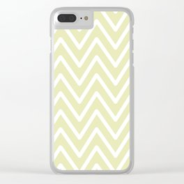 Chevron Wave Yellow Soft Clear iPhone Case