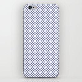 Deep Periwinkle Polka Dots iPhone Skin