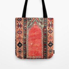 Sivas  Antique Cappadocian Turkish Niche Kilim Tote Bag