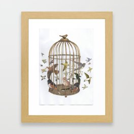 Birdcage Framed Art Print