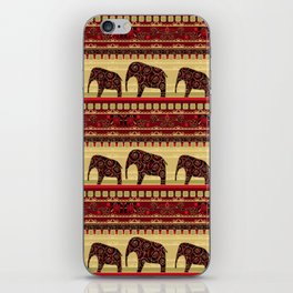 "African ornament . ""Elephants"" . iPhone Skin"