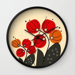 Alkekengi Wall Clock