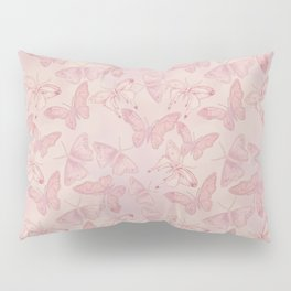Butterfly Pattern soft pink pastel Pillow Sham