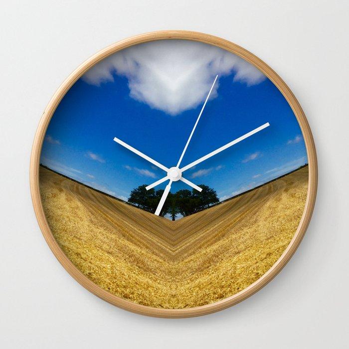 Acute Harvesting Wall Clock