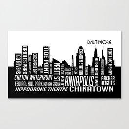 Skyline Baltimore Canvas Print