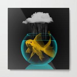 A tight spot in the rain Metal Print