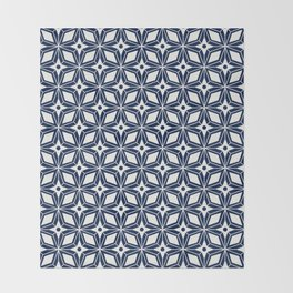 Starburst - Navy Throw Blanket