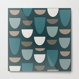 Turquoise Bowls Metal Print