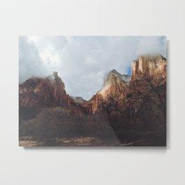 Zion Peaks Metal Print