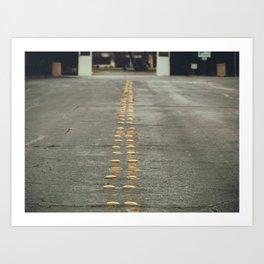 yellow light reflectors Art Print