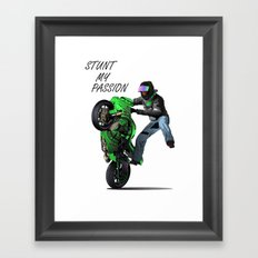 Stunt My Passion Framed Art Print