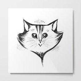 Face Cat Metal Print