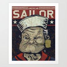 American Sailor Art Print