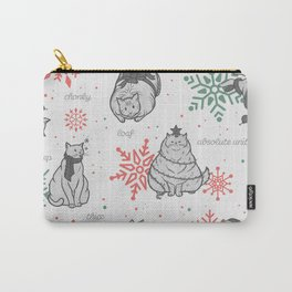 Christmas Chonks | White Pattern Carry-All Pouch